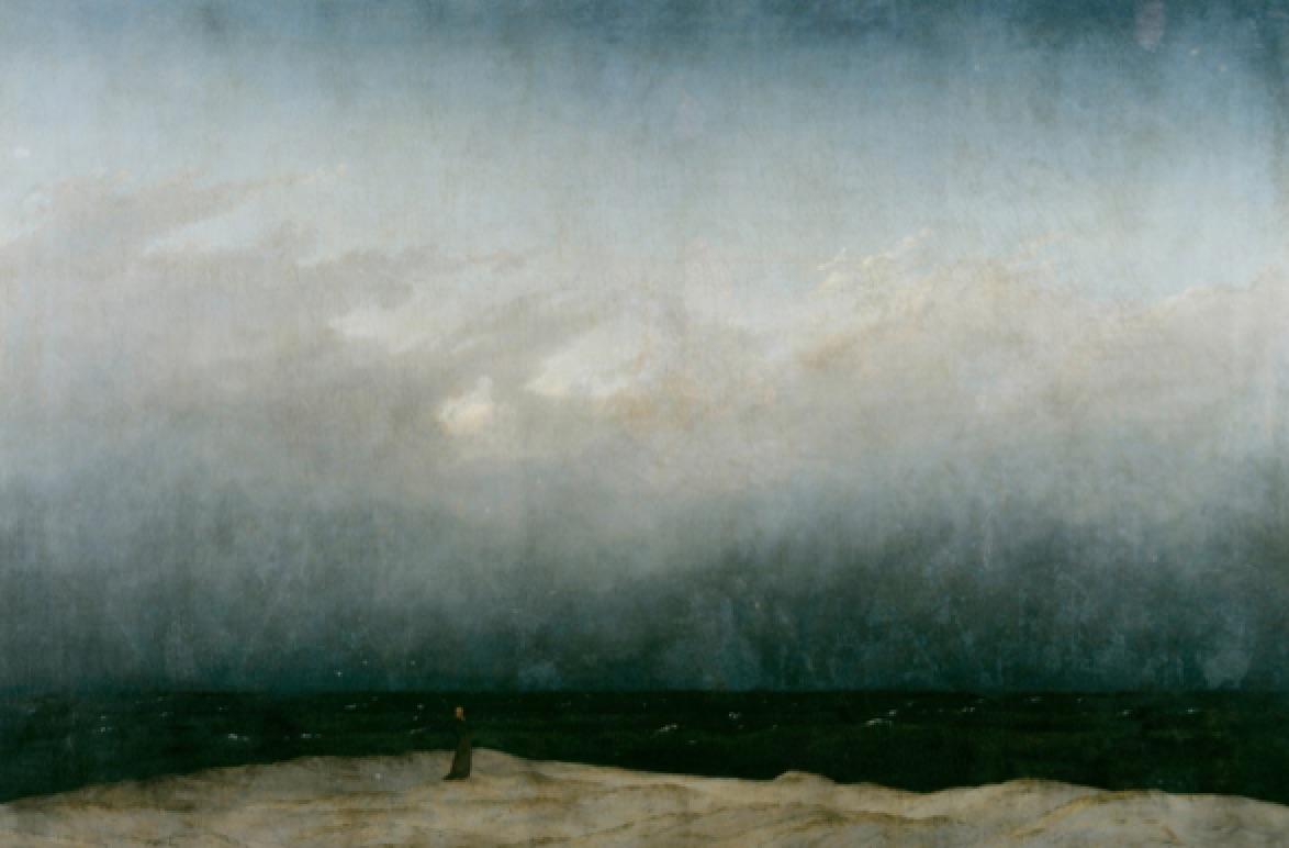 El monje contemplando el mar (1809) Caspar David Friedrich. Palacio de Charlottenburg, Berlín.