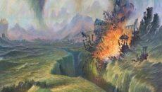 La caída de Númenor (ilustración de Darrell K. Sweet)